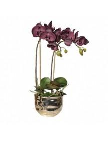 Dirbtinė orchidėja vazonėlyje