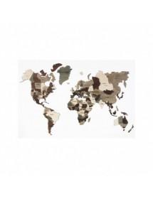 Medinis klijuojamas pasaulio žemėlapis