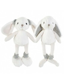 Dryžuotomis ausytėmis minkštas žaislas DARCY 25 cm